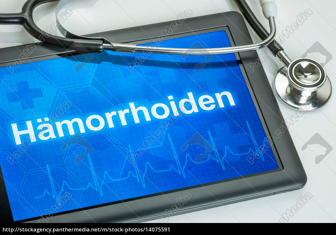tablet, with, the, diagnosis, of, hemorrhoids - 14075591