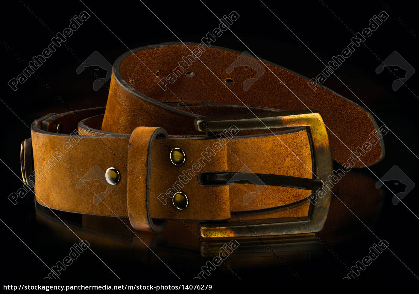 new, stylish, brown, leather, men's, belt - 14076279
