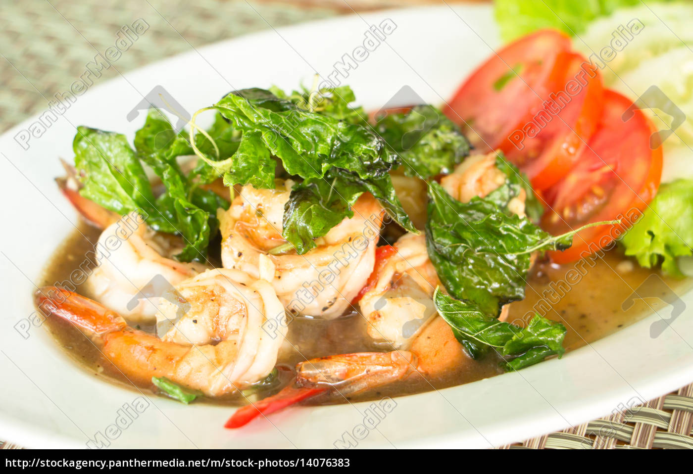 thai, food, , spicy, fried, shrimp, with - 14076383