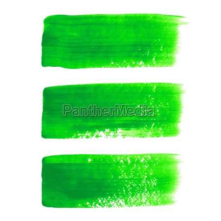 green acrylic painted vector brush stroke