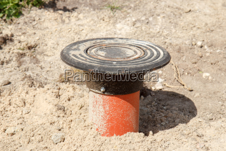sewer, pipe, in, road, construction, site - 14077949