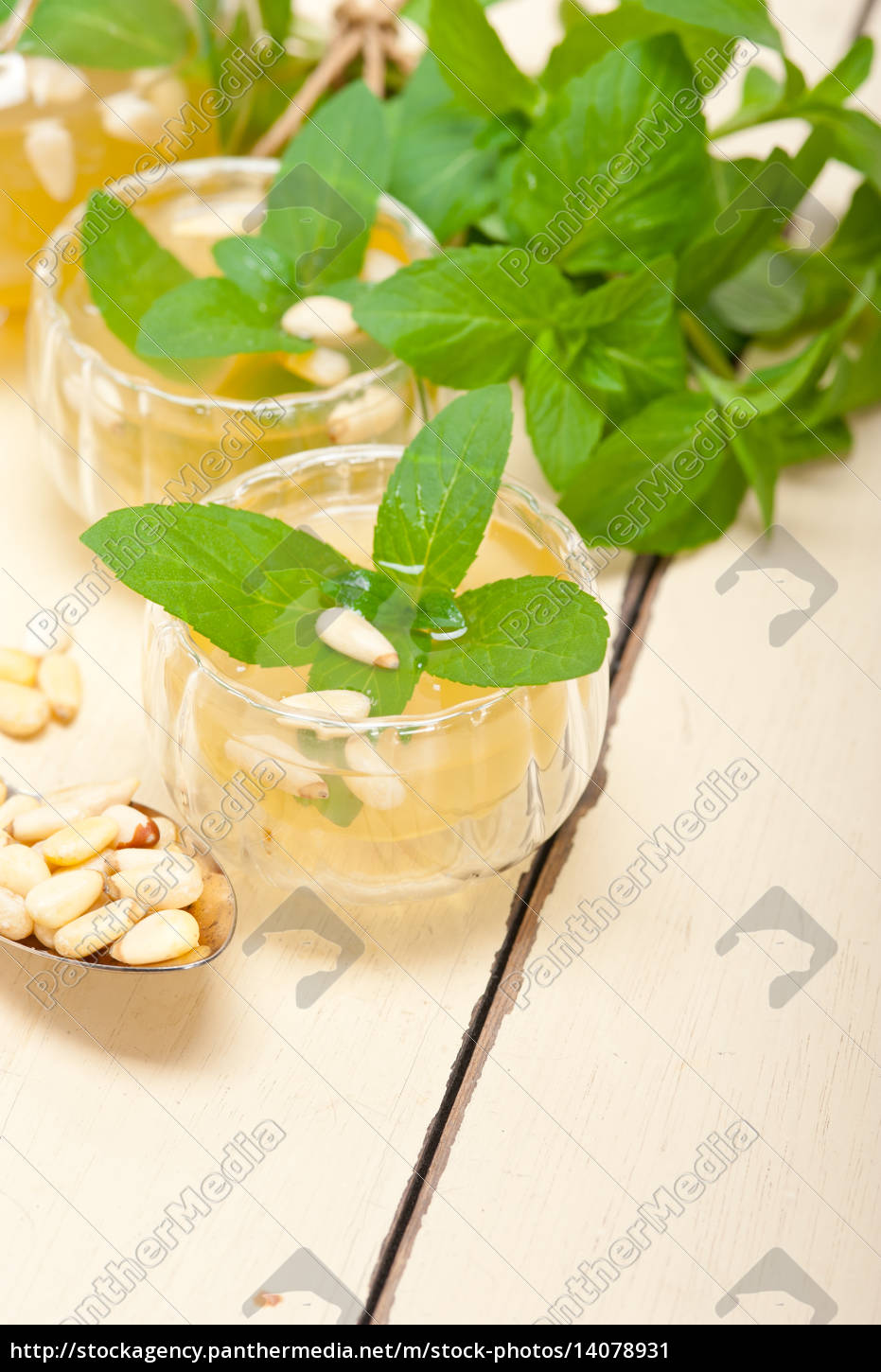 arab, traditional, mint, and, pine, nuts - 14078931