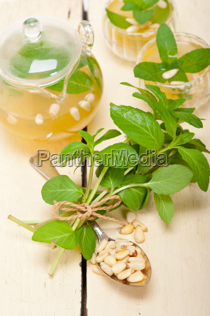 arab, traditional, mint, and, pine, nuts - 14078943