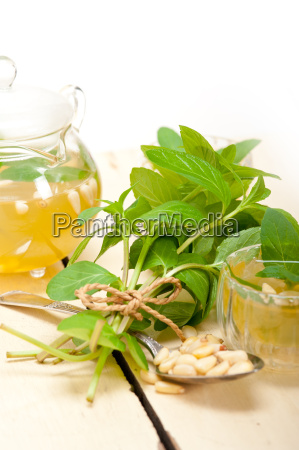 arab, traditional, mint, and, pine, nuts - 14078947