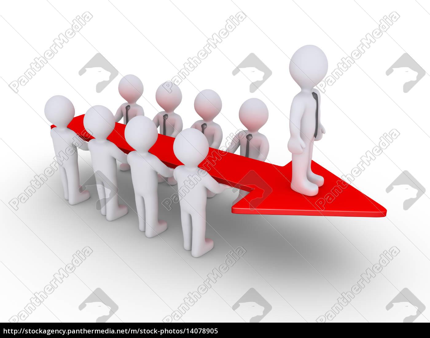 businessmen, arrow, and, leader - 14078905