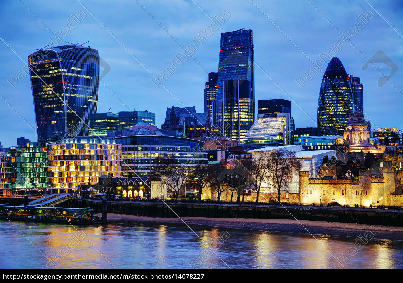 london, city, at, the, night, time - 14078227