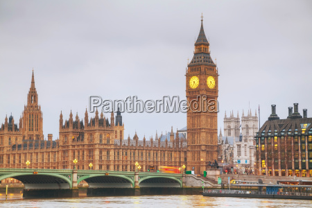 london, with, the, clock, tower, and - 14078225