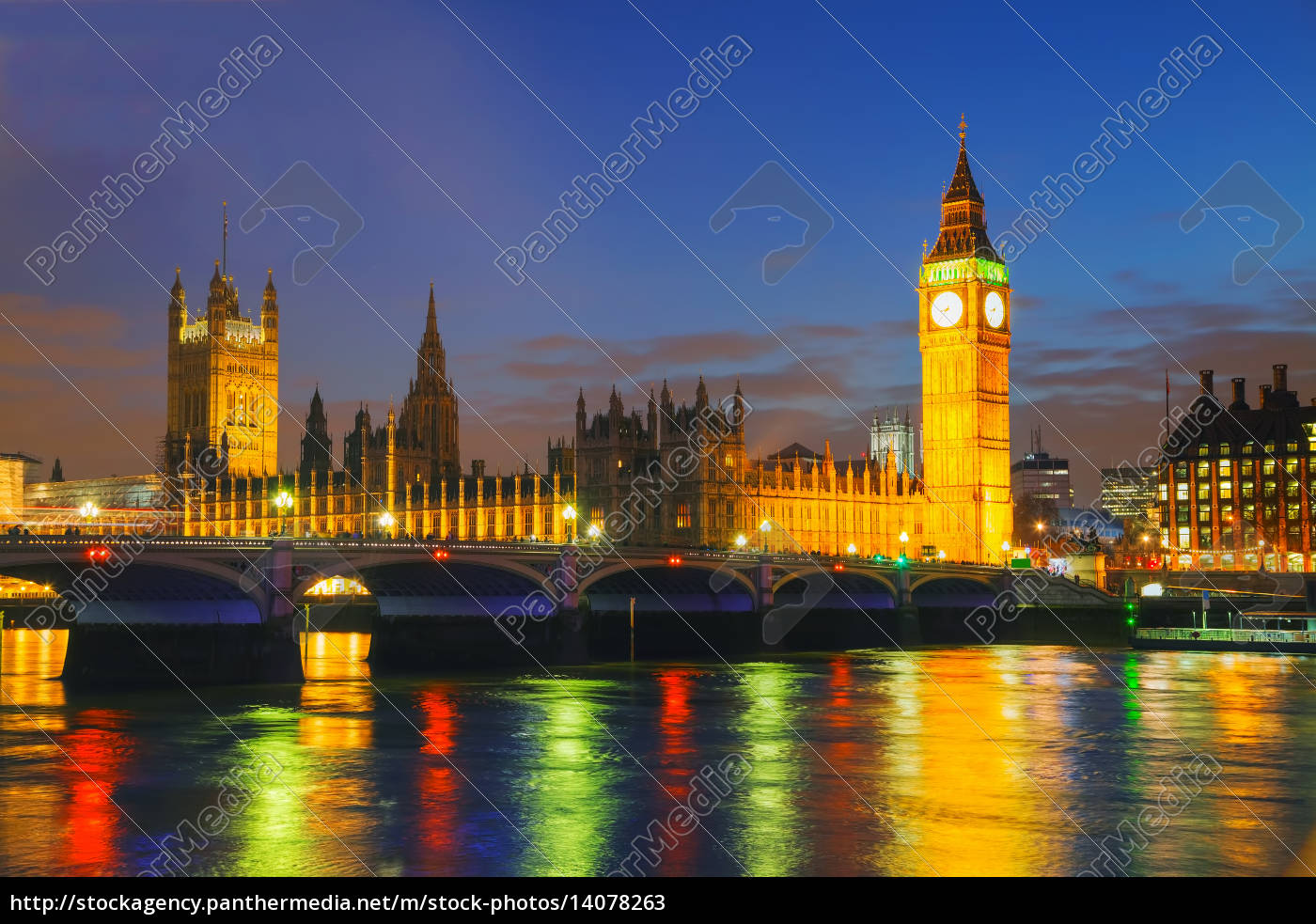 london, with, the, clock, tower, and - 14078263