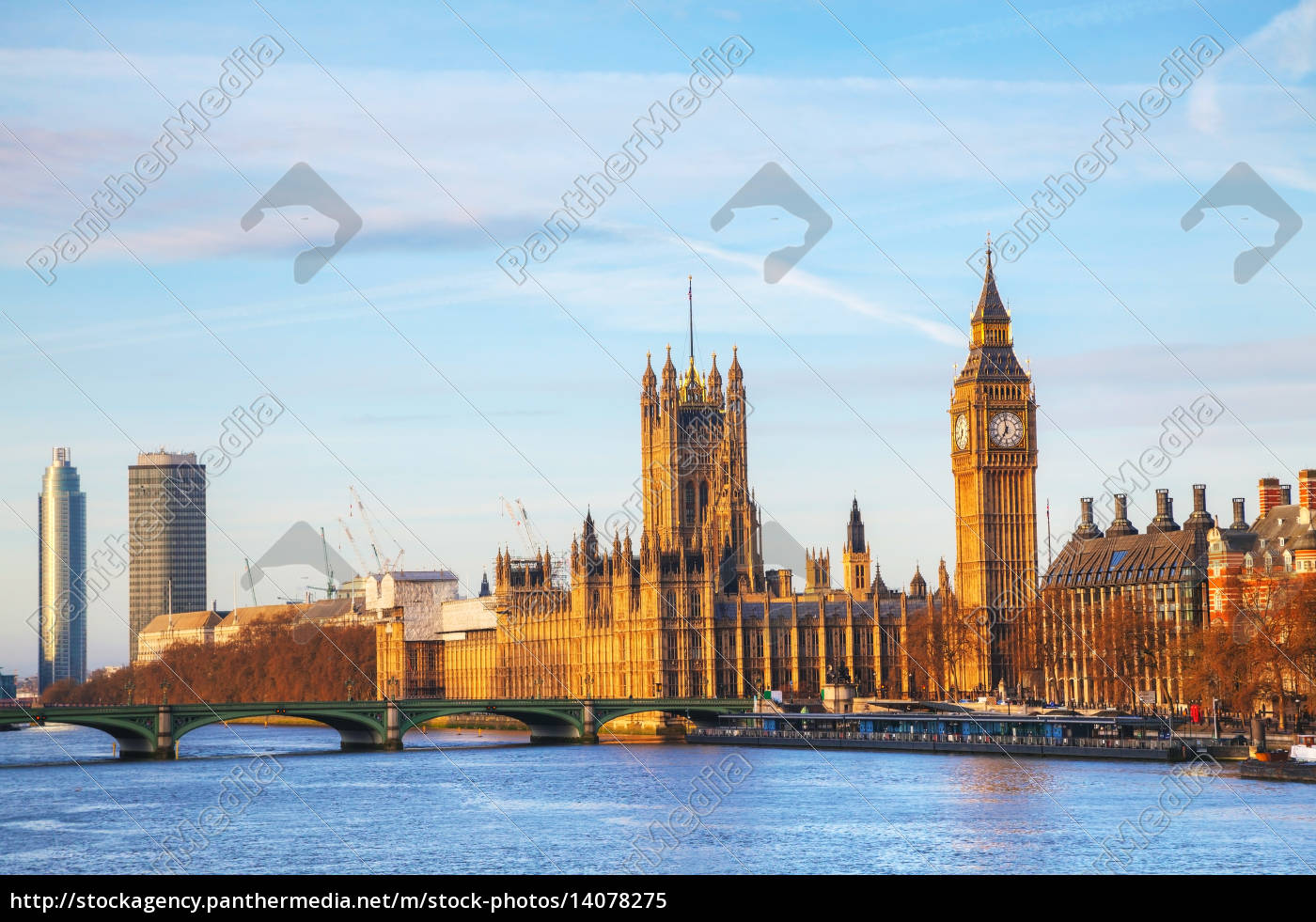london, with, the, clock, tower, and - 14078275