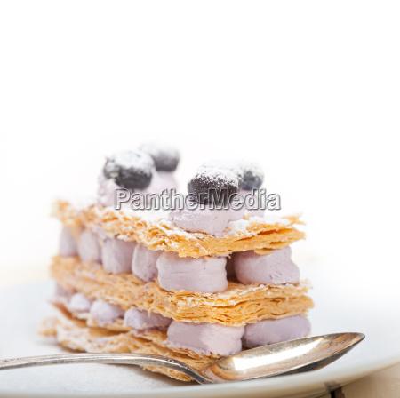 napoleon, blueberry, cake, dessert - 14078993