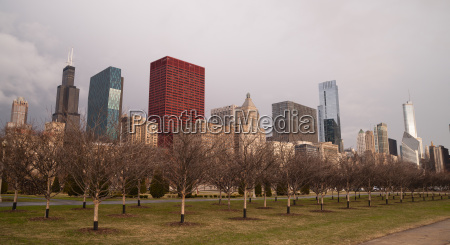 storm, approaches, spring, time, scene, chicago - 14078459