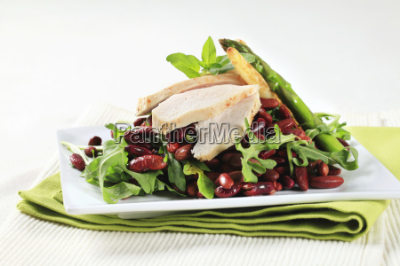 chicken, breast, with, red, beans, and - 14079279