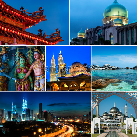 collage, of, malaysia, images - 14079197