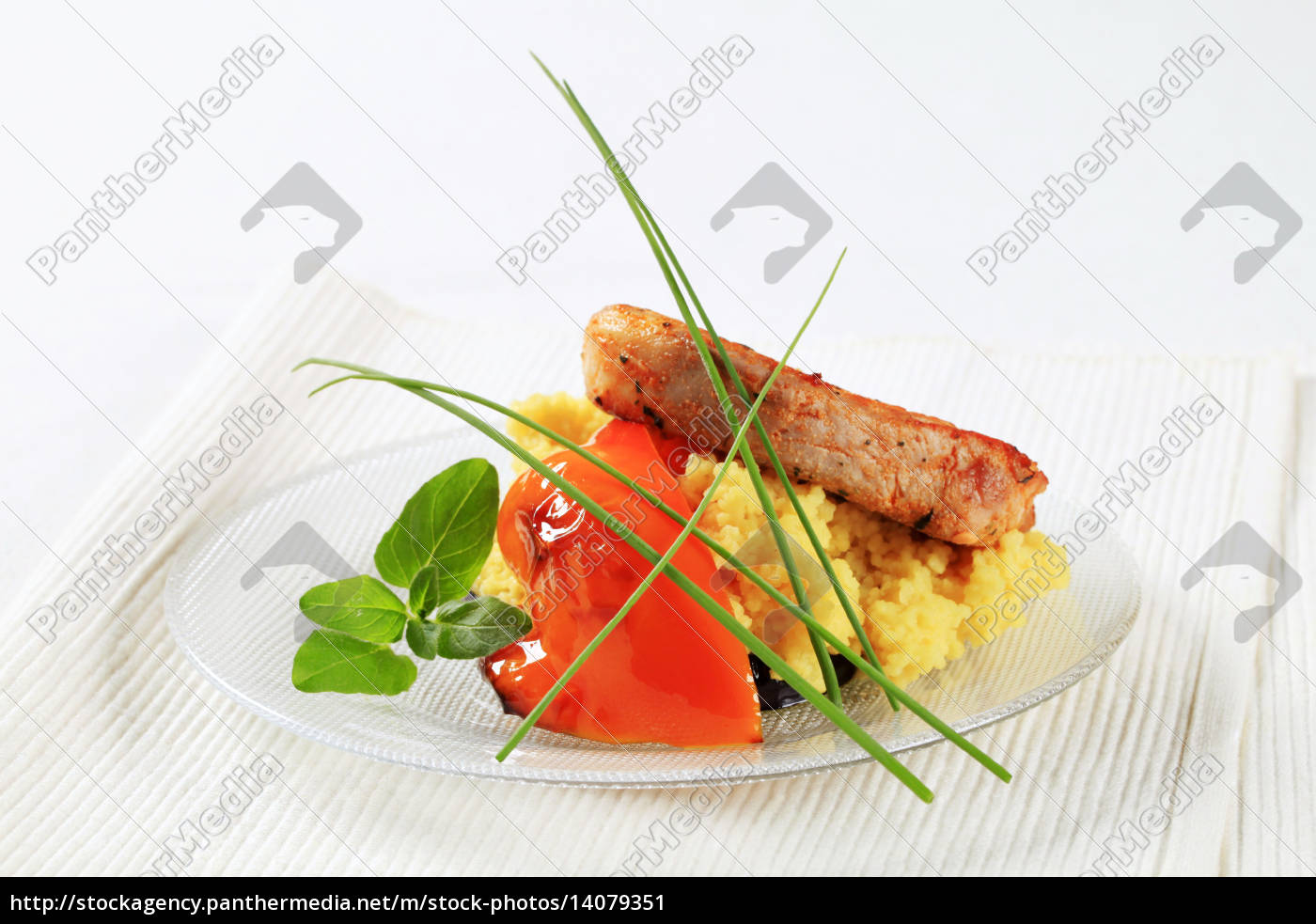 marinated, pork, with, couscous, - 14079351