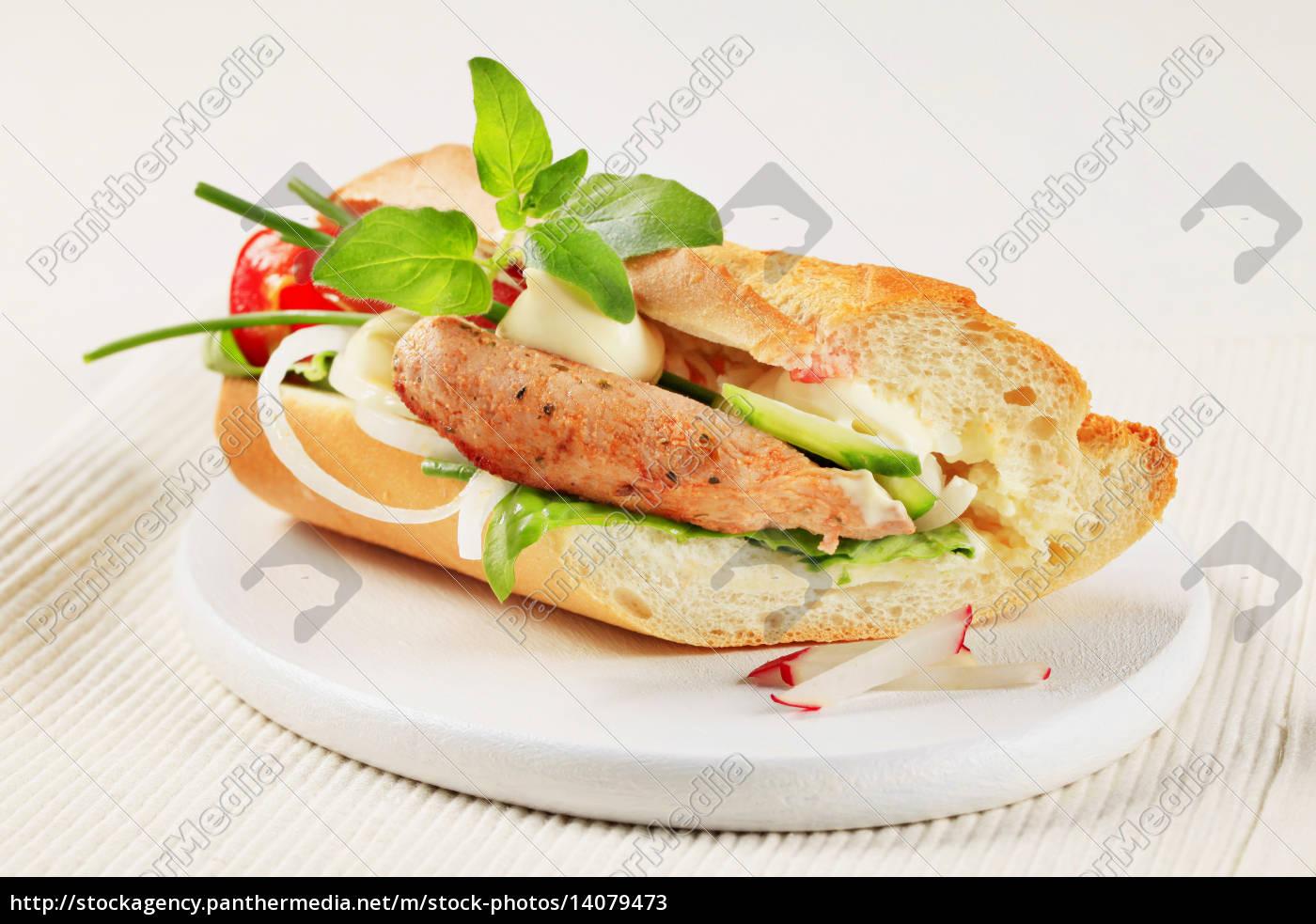 pork, and, vegetable, sandwich - 14079473