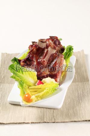 smoked, pork, ribs, - 14079387