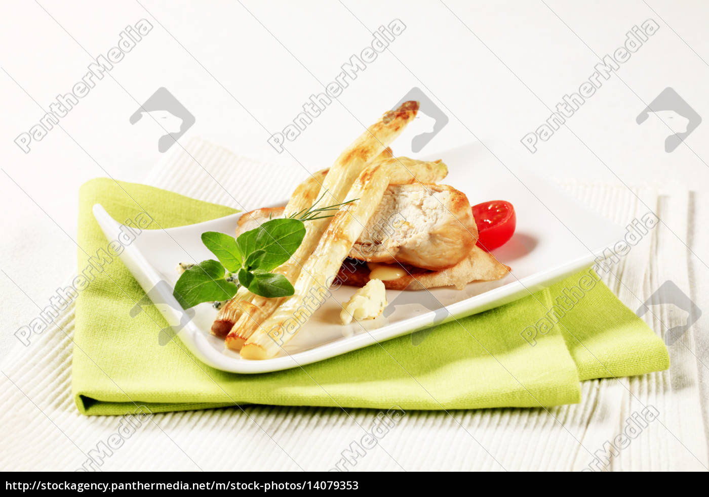white, asparagus, and, chicken, breast - 14079353