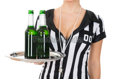 close-up, of, referee, holding, drinks - 14080121