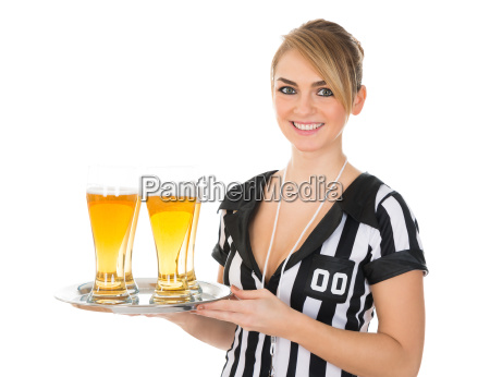 female, referee, with, glass, of, beer - 14080123