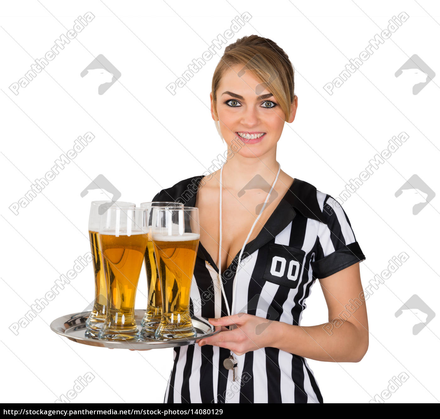 female, referee, with, glass, of, beer - 14080129