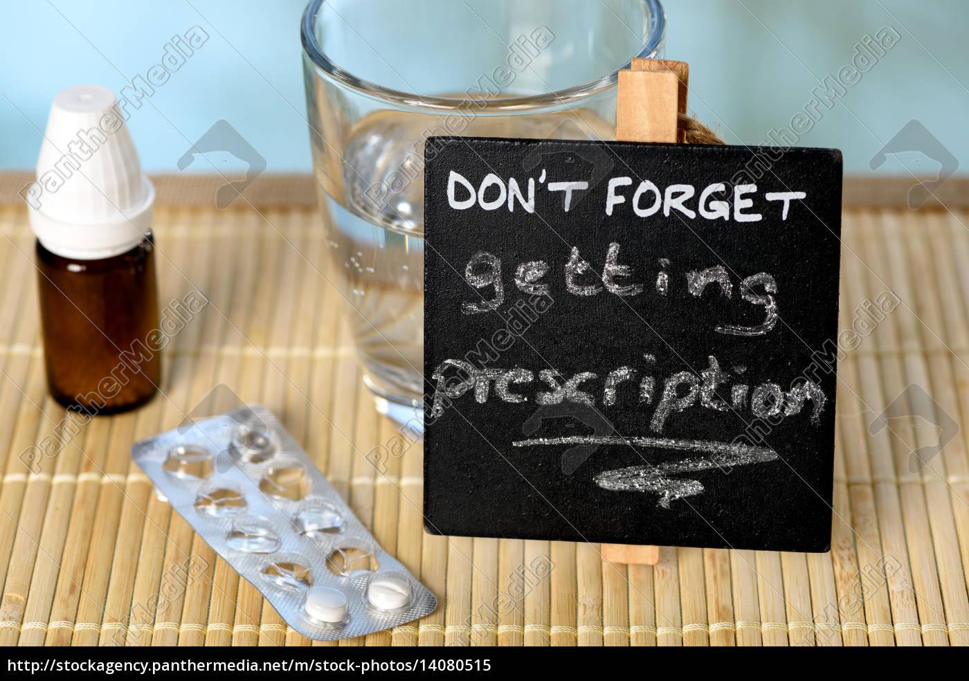prescription, reminder, on, glass, table - 14080515