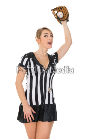 referee, with, baseball, bat, and, ball - 14080149