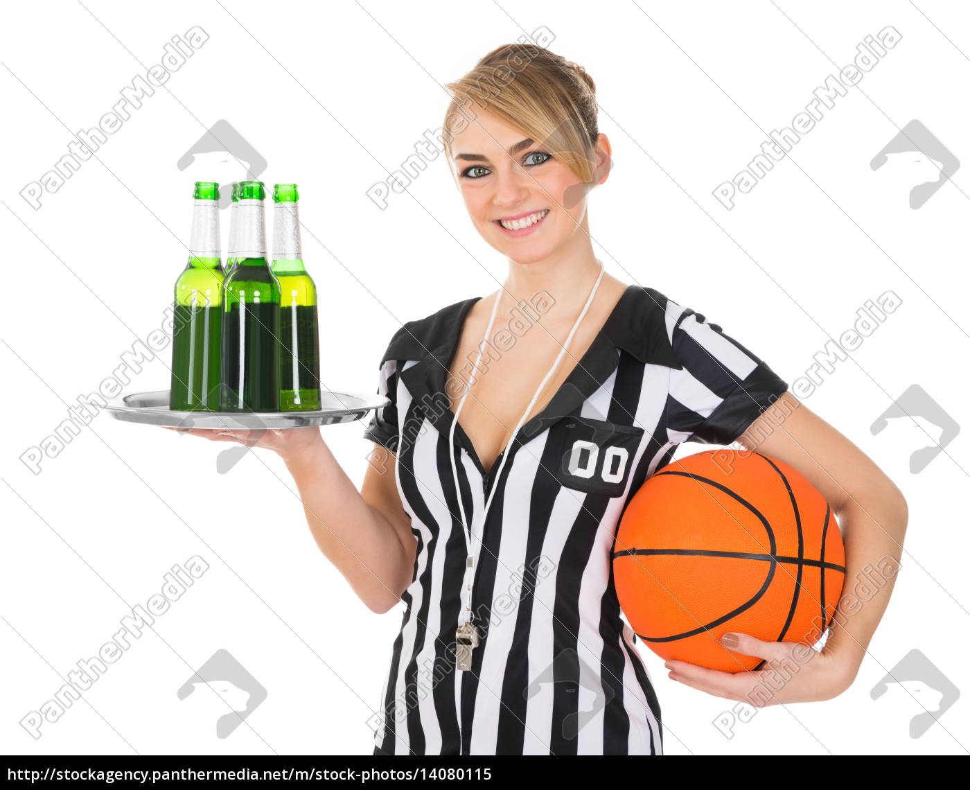referee, with, drinks, and, basketball - 14080115