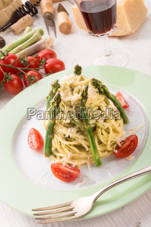 pasta, with, asparagus - 14081871