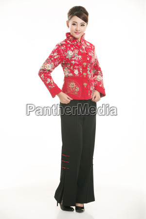wearing, chinese, clothing, waiter, in, front - 14081401