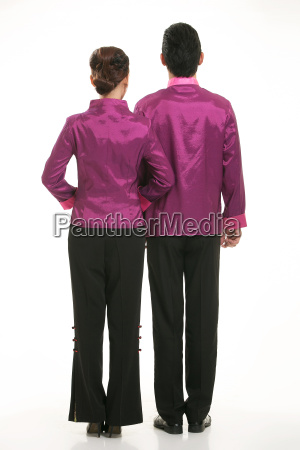 wearing, chinese, clothing, waiter, in, front - 14081995