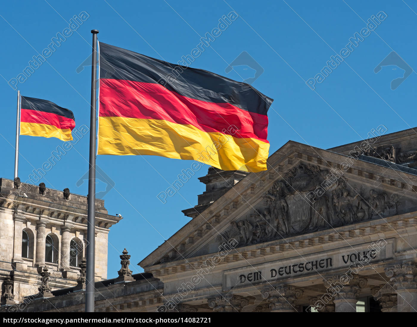 germany, flag, on, the, reichstag - 14082721