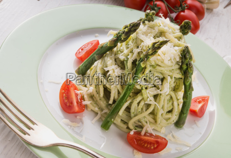 pasta, with, asparagus - 14082209