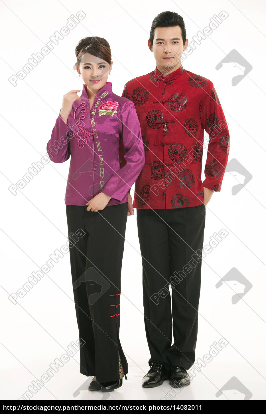 wearing, chinese, clothing, waiter, in, front - 14082011