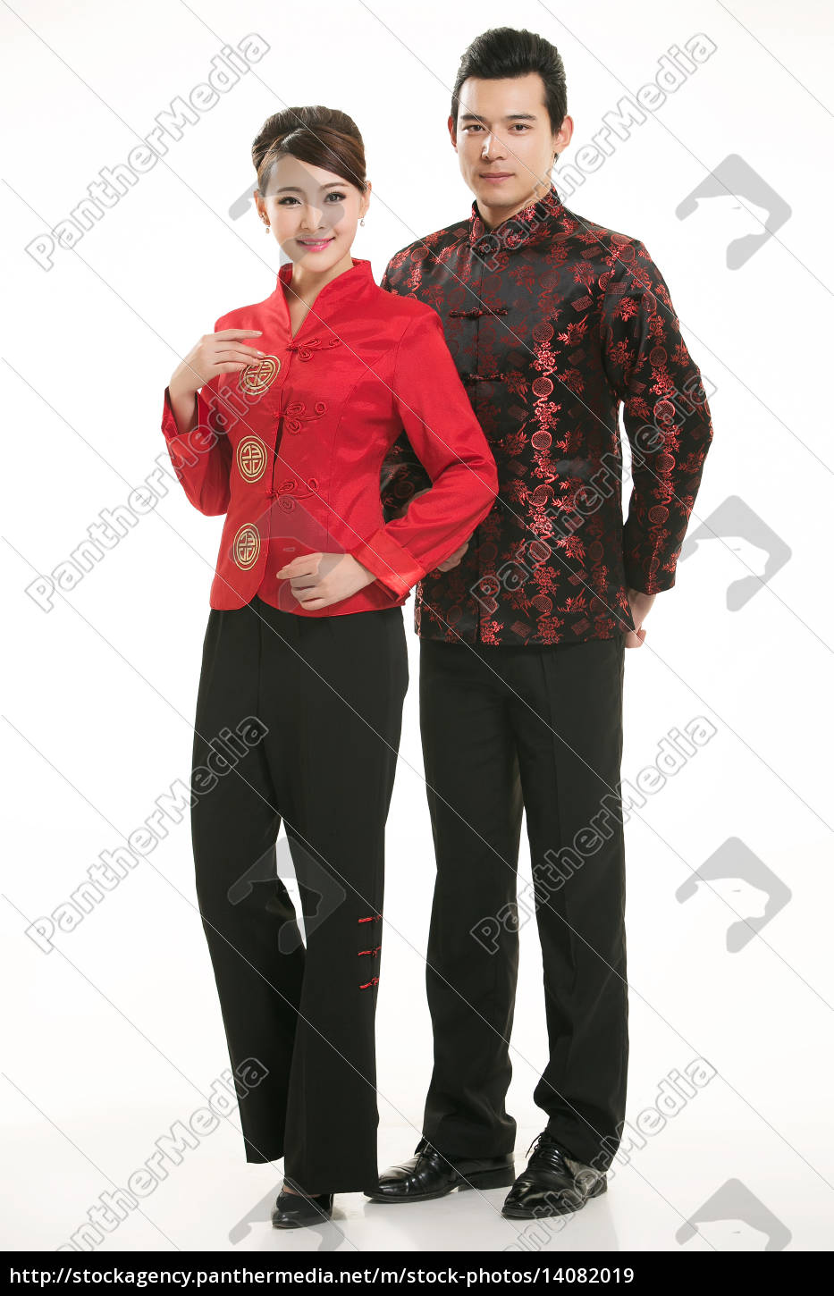 wearing, chinese, clothing, waiter, in, front - 14082019