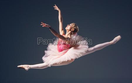 beautiful female ballet dancer on a