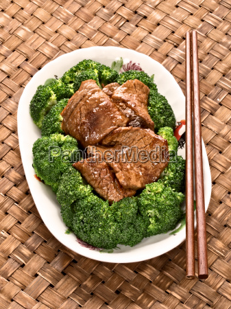 american, chinese, beef, and, broccoli - 14083463