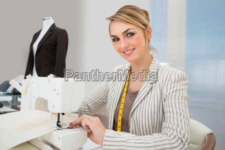 beautiful, fashion, designer, working, on, sewing - 14083621