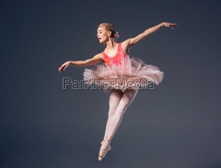 beautiful, female, ballet, dancer, on, a - 14083977