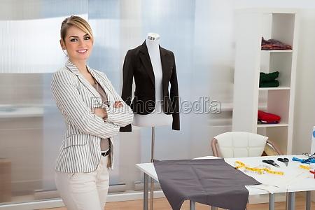 portrait, of, confident, smiling, fashion, designer - 14083561