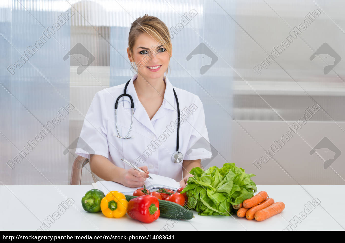 portrait, of, happy, female, dietician - 14083641