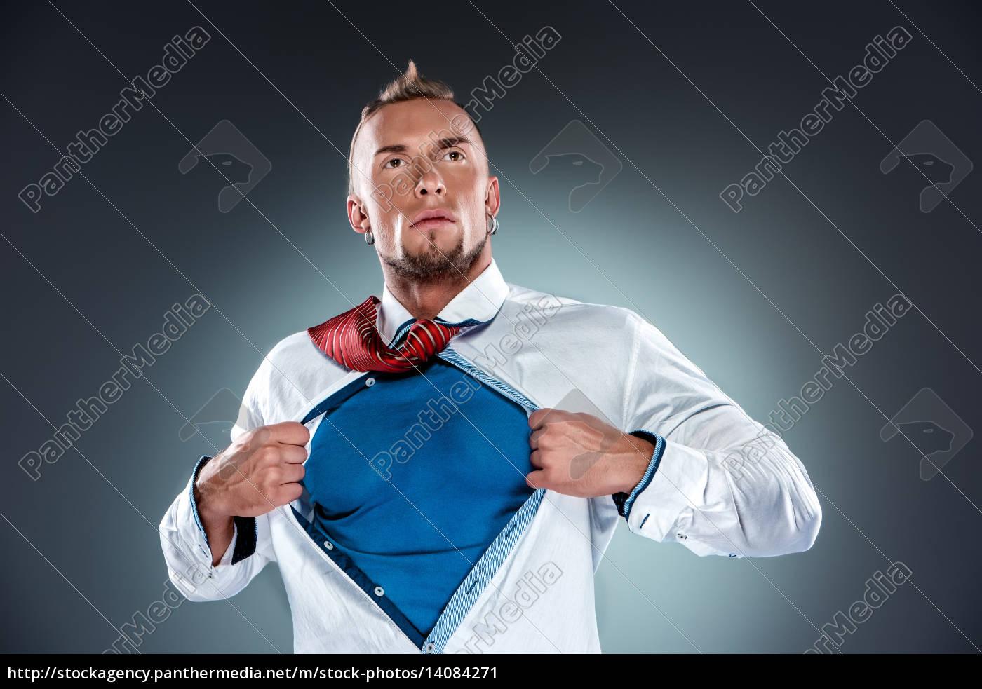 businessman, acting, like, a, super, hero - 14084271