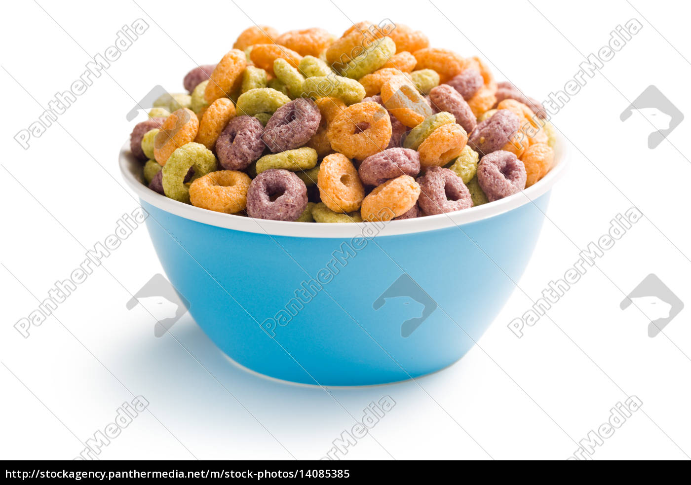 colorful, cereal, rings, in, bowl - 14085385
