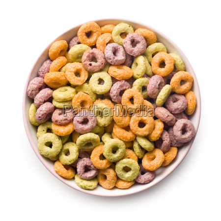 colorful, cereal, rings, in, bowl - 14085395