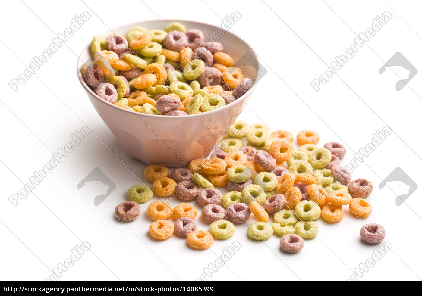 colorful, cereal, rings, in, bowl - 14085399