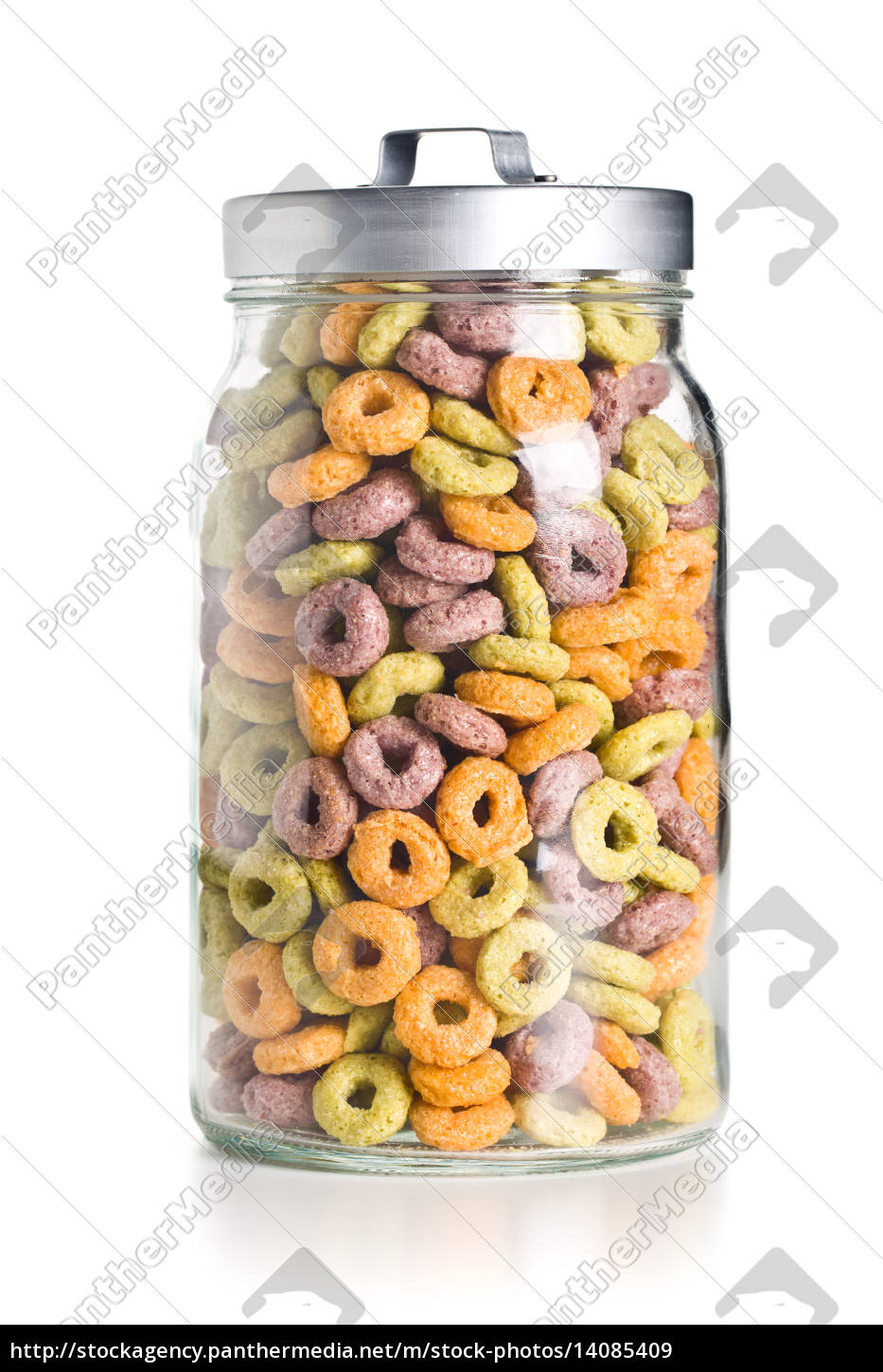 colorful, cereal, rings, in, jar - 14085409