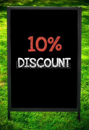 ten, percent, discount - 14085807