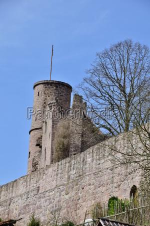 hanstein castle in the eichsfeld thuringia