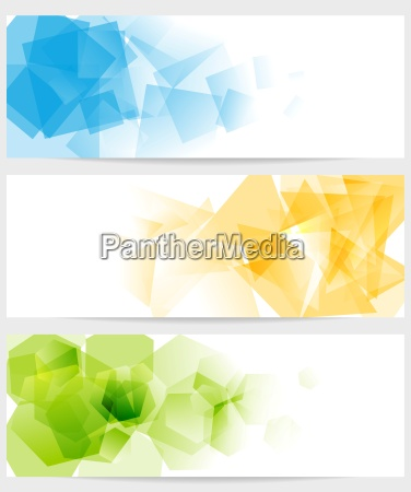 abstract, tech, colorful, banners - 14086419