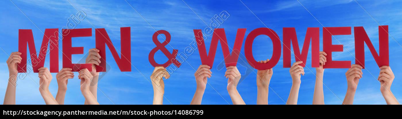 hands, holding, red, straight, word, men - 14086799