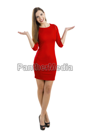 woman, in, red - 14086195
